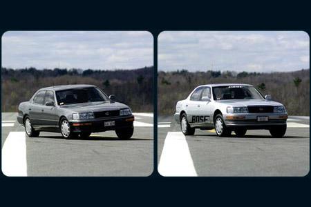 Авто перепрыгивает препятствия (видео)