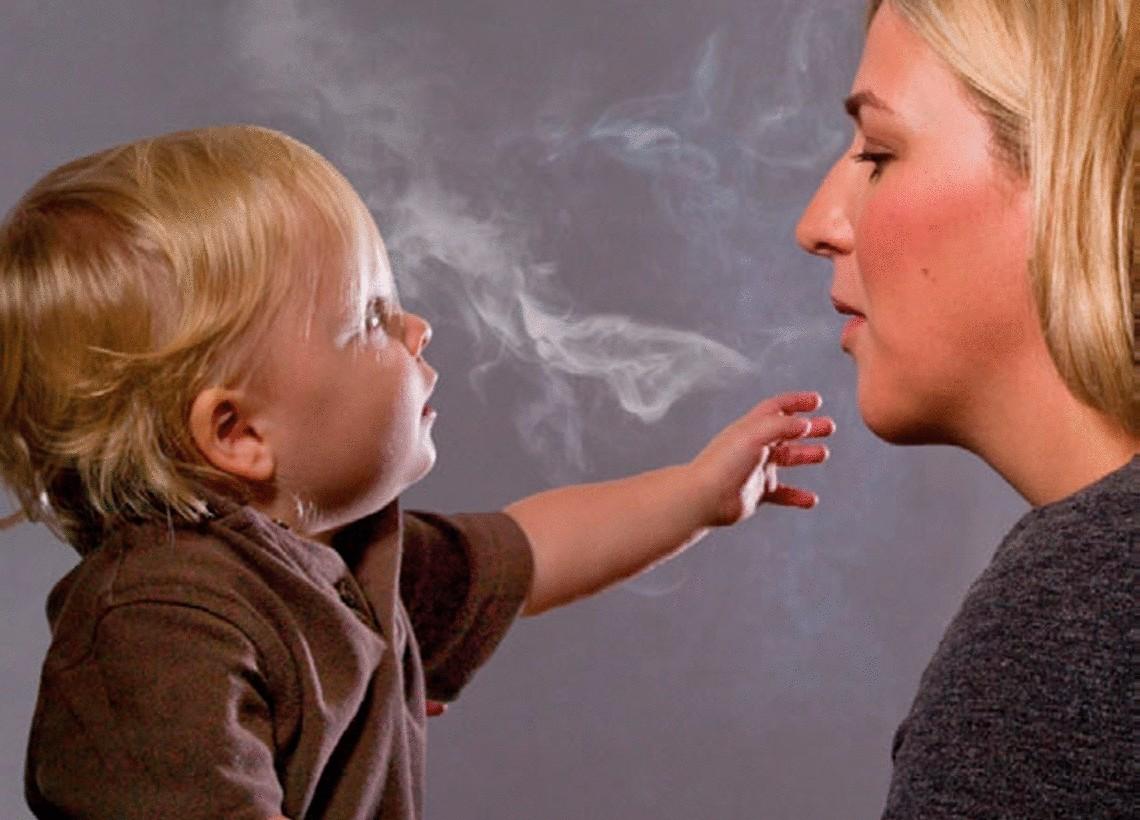 Не курите во время поездок с детьми