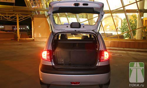 багажник мал лишь с разложенными задними сиденьями