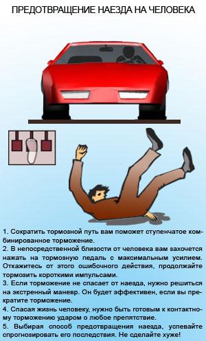 Предотвращение наезда на человека