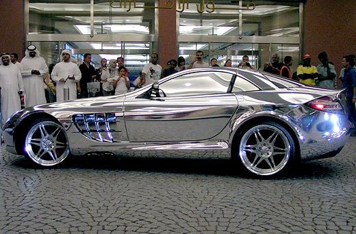 Арабы покрыли хромом Mercedes-Benz SLR McLaren