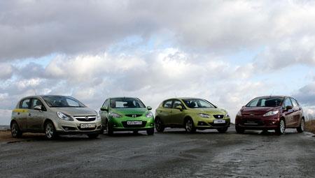 Тест-драйв Ford Fiesta, Opel Corsa, Seat Ibiza и Mazda 2