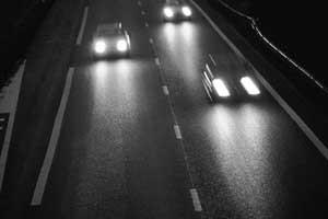 Трасса, дождь и темнота