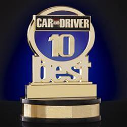 Car and Driver огласили список 10 лучших автомобилей года