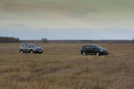 Сравнение автомобилей кроссовер Mitsubishi Outlander III и кроссовер Kia Sorento II