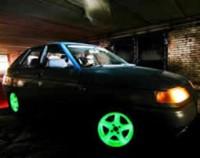 Покраска дисков для авто светящейся люминофоровой краской
