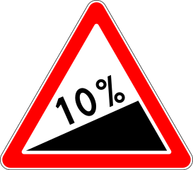 Знак 1.14 Крутой подъём