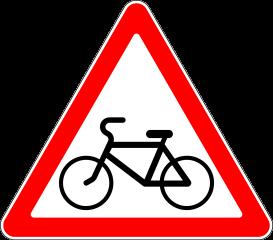 Знак 1.24 Пересечение с велосипедной дорожкой