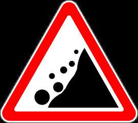 Знак 1.28 Падение камней