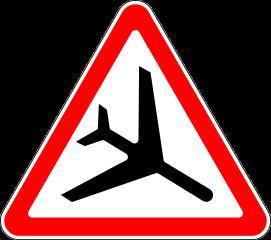 Знак 1.30 Низколетящие самолёты