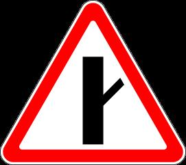 Знак 2.3.4 Примыкание второстепенной дороги справа