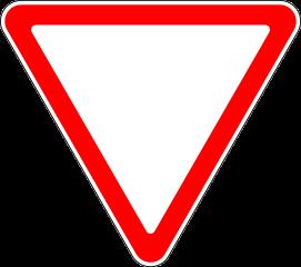 Знак 2.4 Уступите дорогу