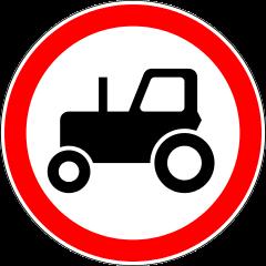 Знак 3.6 Движение тракторов запрещено