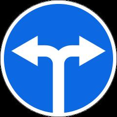 Знак 4.1.6 Движение направо или налево