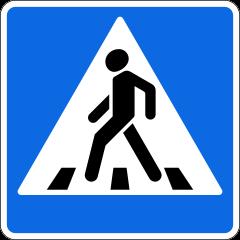 Знак 5.19.1 Пешеходный переход (устанавливается справа)