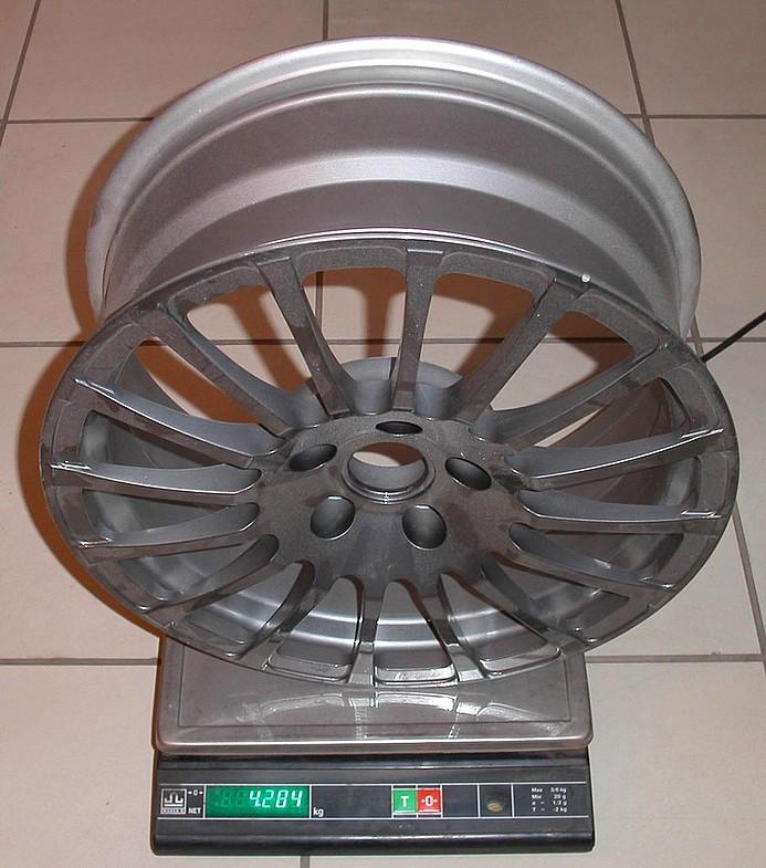 Вес колесных дисков