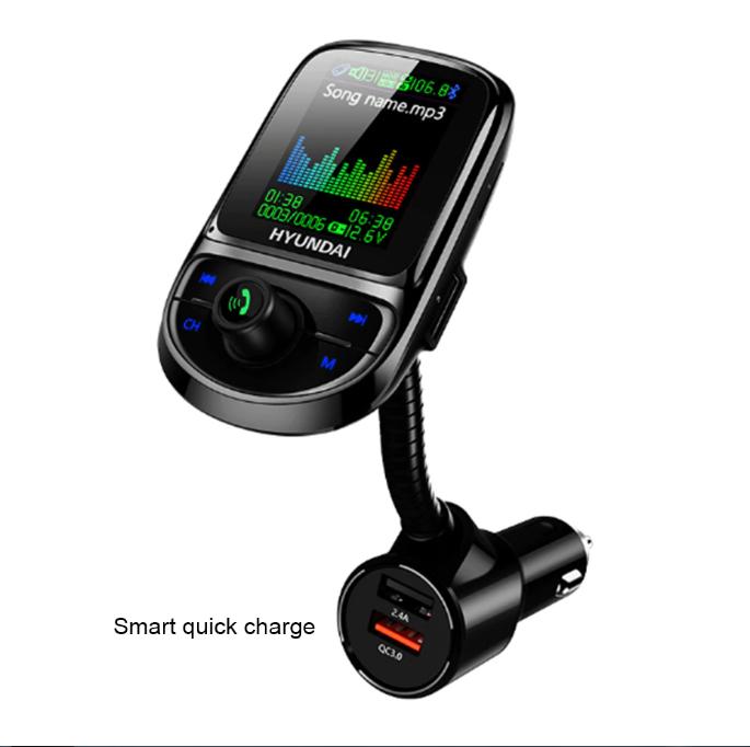 Автомобильный MP3 KDsafe 1,8 дюймов 3 Bluetooth плеер QC3.0