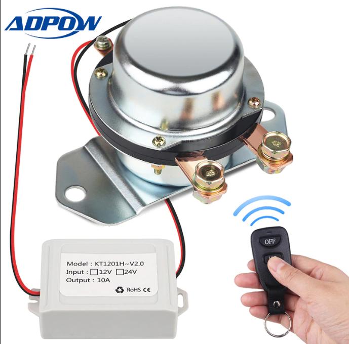 Автомобильный аккумулятор ADPOW с дистанционным управлением, выключатель 12 В 24 В