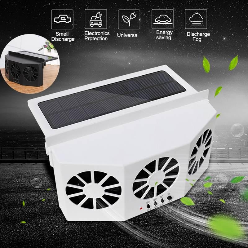 Автомобильный кулер на солнечной батарее, оконный радиатор, вытяжной вентилятор