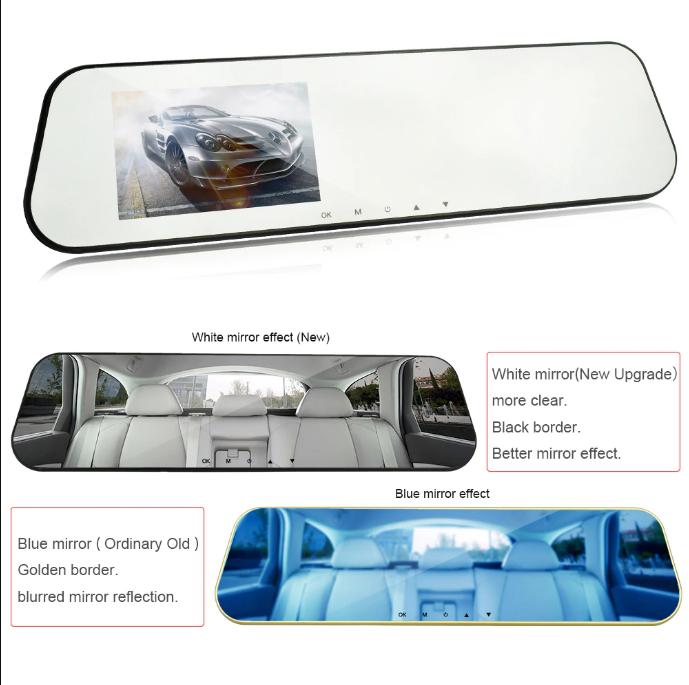 Автомобильный видеорегистратор с зеркалом заднего вида Full HD 1080P