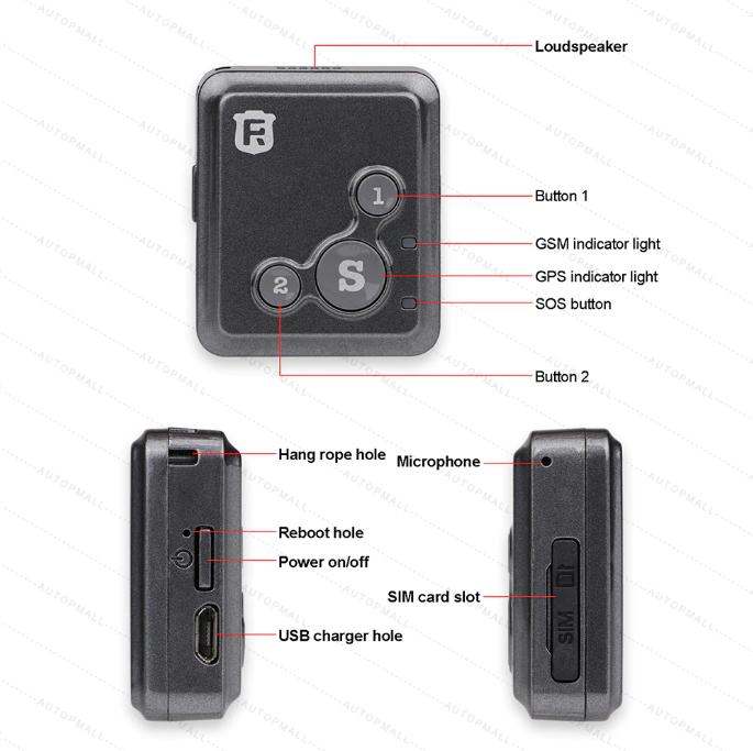 Мини GPS-трекер для детей, детский GPS-локатор