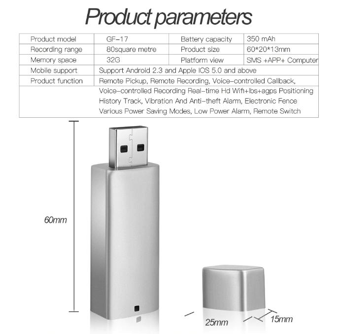 Мини USB трекер LBS Gsm с микрофоном, подслушивающее устройство