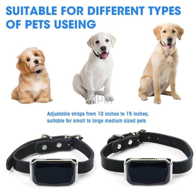 Водонепроницаемый ошейник для домашних животных, GSM, GPS, Wi-Fi, LBS