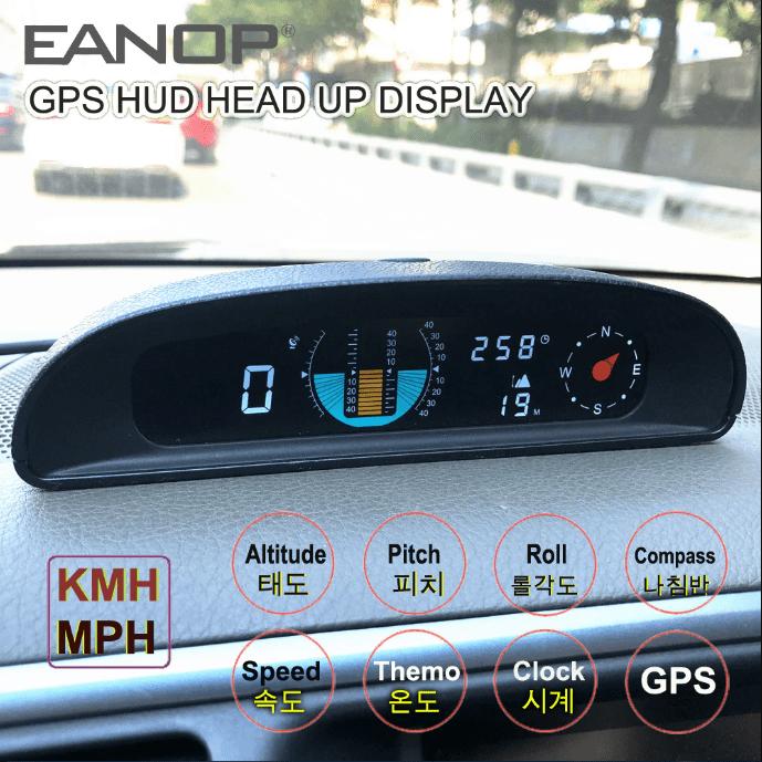Автомобильный компас EANOP GH200, GPS-спидометр, инклинометр, 12 В