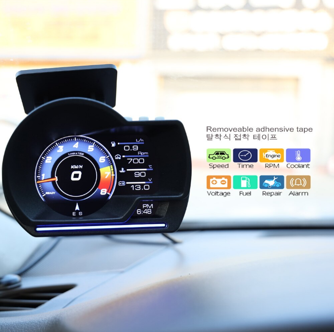 EANOP L 200 автомобильный HUD OBD2 GPS цифровой измеритель, OBD-сканер