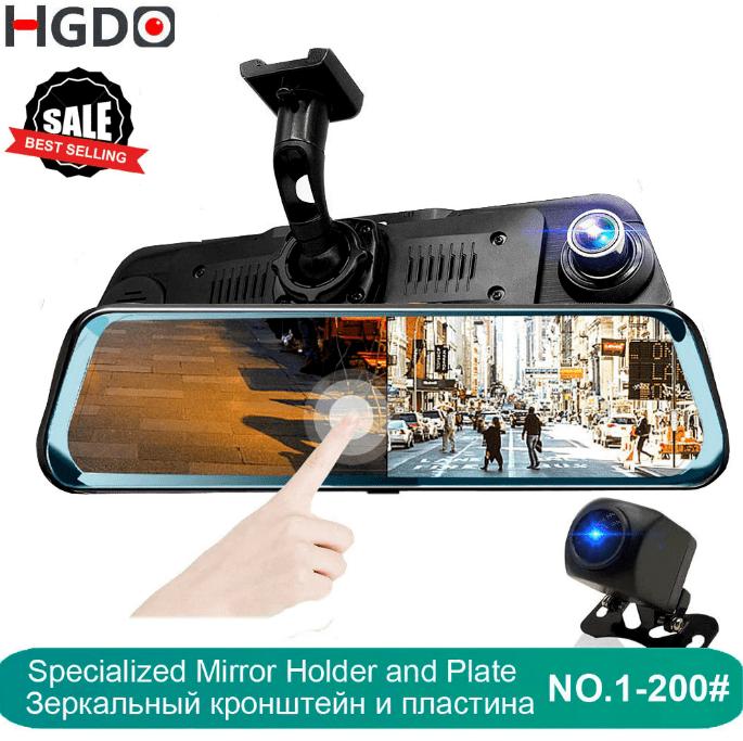 """Зеркало-видеорегистратор HGDO, 10 """"сенсорный экран, камера заднего вида"""